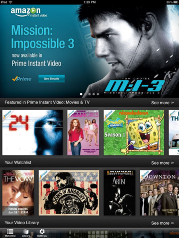 Amazon Instant Video app for the iPad