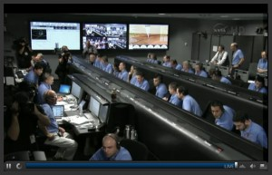 NASA TV: Control Room While Rover is Landing on Mars