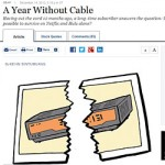 Screenshot of Wall Street Journal Year Without Cable article